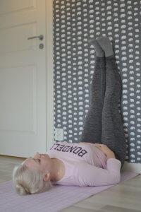 viparita karani, yoga, frufibro, fibromyalgi