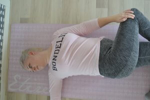 Yoga, Fibromyalgi, liggande vridning, frufibro