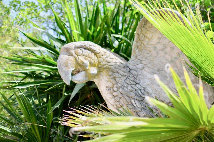 Lagos Zoo, staty av papegoja