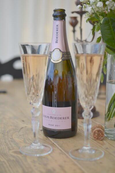 Bröllopsdag i bilder, champange