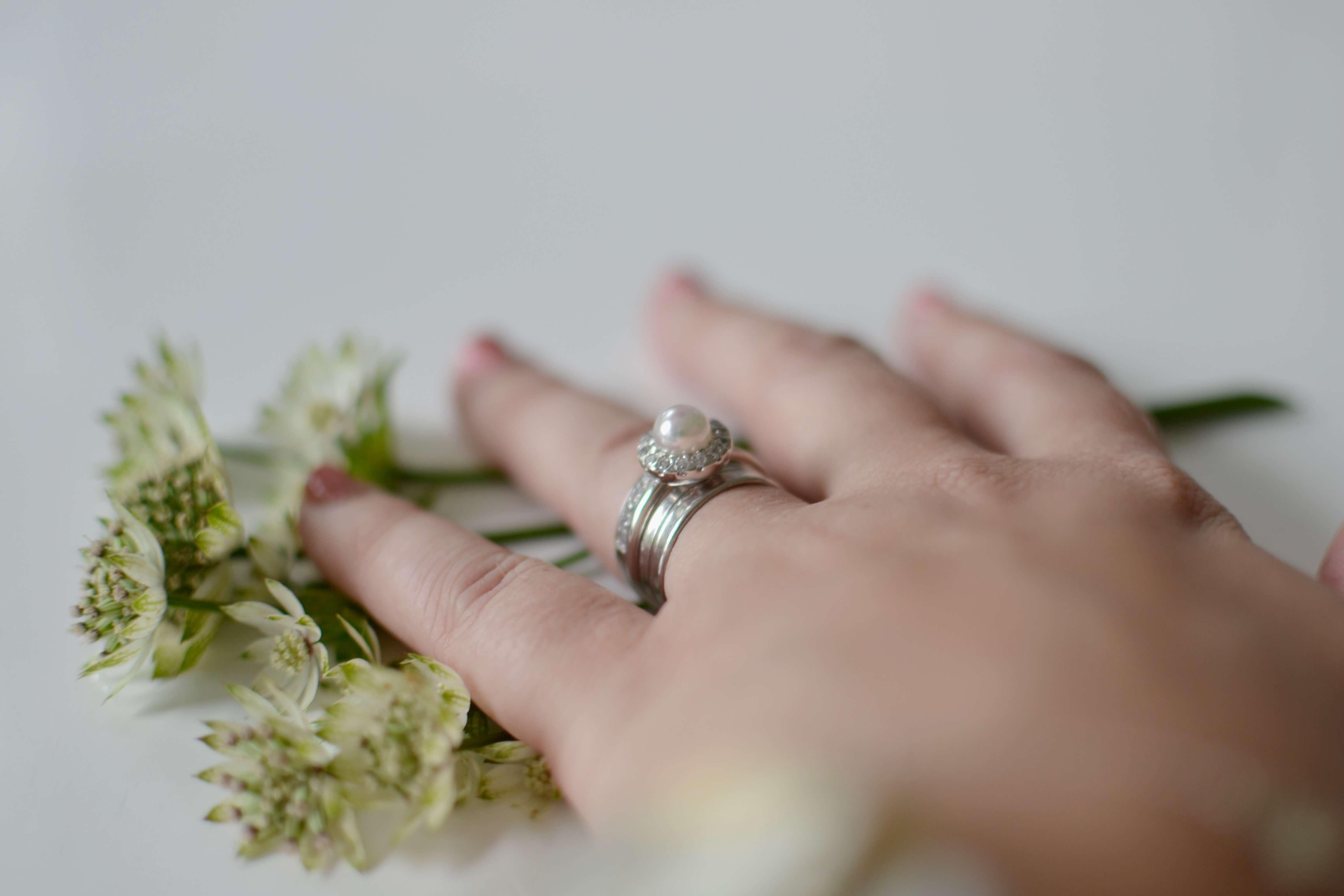bröllopsdag i bilder, ring majorica