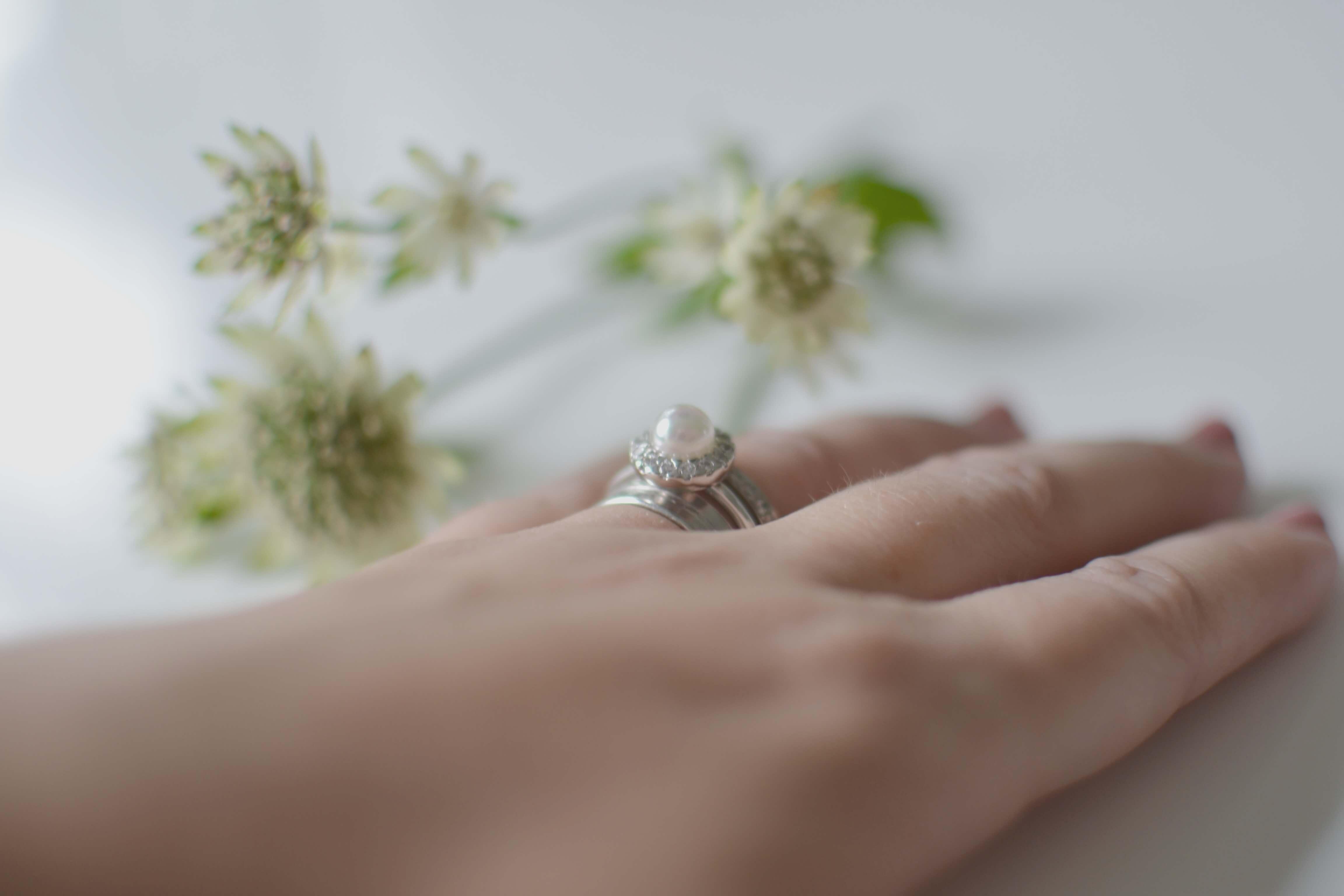 bröllopsdag, ring från majorica